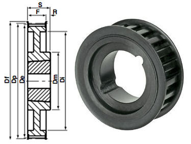72-8M-20 Timing Pulley Taper Bore image 2