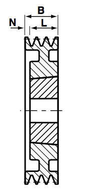 SPA180-2 Groove V & Wedge Pulley image 2