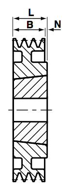 SPA236-2 Groove V & Wedge Pulley image 2