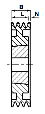 SPA236-3 Groove V & Wedge Pulley image 2