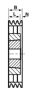 SPB710-6 Groove V & Wedge Pulley image 2
