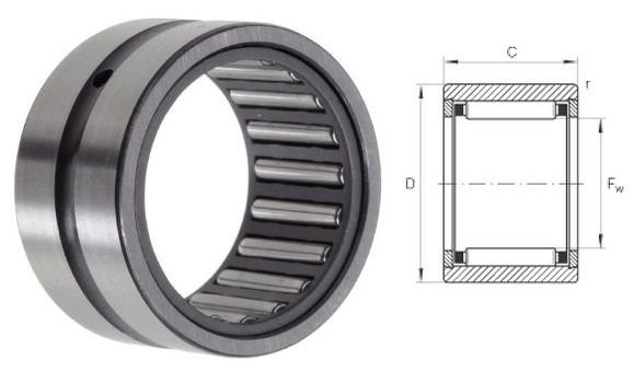 RNA4910-XL INA Needle Roller Bearing without Inner Ring 58x72x40mm image 2