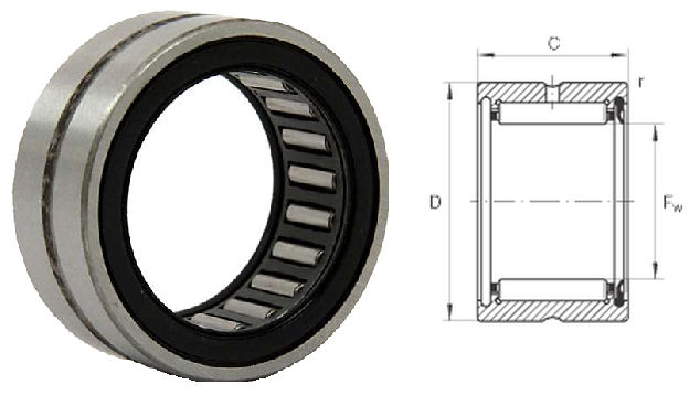 RNA4903-RSR-XL INA Needle Roller Bearing without Inner Ring Sealed 22x30x13mm image 2