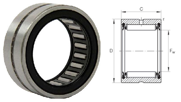 RNA4903-2RS Budget Brand Needle Roller Bearing without Inner Ring Sealed 22x30x13mm image 2