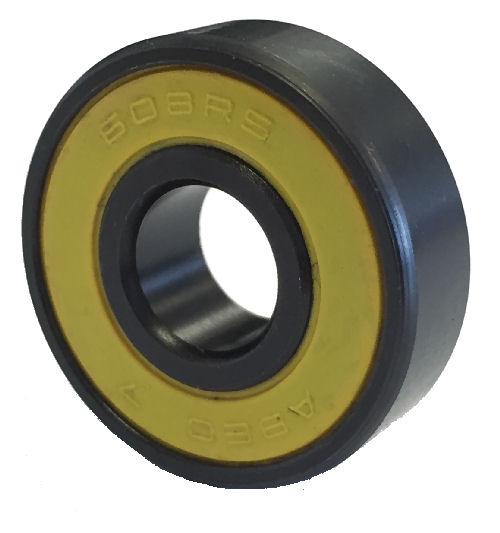 608 2RS ABEC7 Black & Yellow Sealed Skateboard Bearing 8x22x7mm image 2