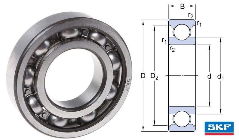 607 SKF Open Deep Groove Ball Bearing 7x19x6mm image 2