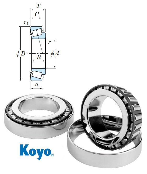 30302JR Koyo Tapered Roller Bearing 15x42x14.25mm image 2