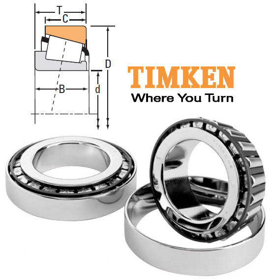 30212 Timken Tapered Roller Bearing 60x110x23.75mm image 2