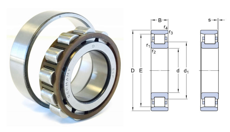 N312 ECP/C3 SKF Single Row Cylindrical Roller Bearing 60x130x31mm image 2