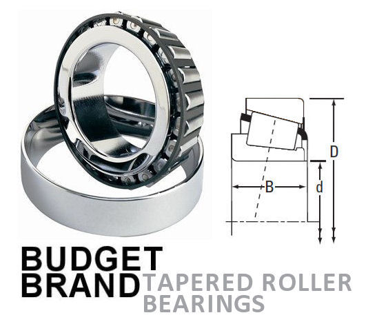 32007 Budget Brand Tapered Roller Bearing 35x62x18mm image 2
