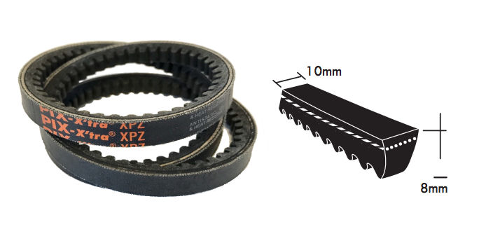 XPZ1250 PIX Cogged Wedge Belt image 2