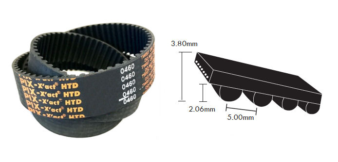1870-5M-25 PIX HTD Timing Belt 25mm Wide 5mm Pitch 374 Teeth image 2