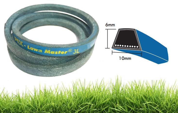 3L385K PIX Lawn Master 10x6mm Blue Dry Cover Kevlar Wrapped V-Belt image 2