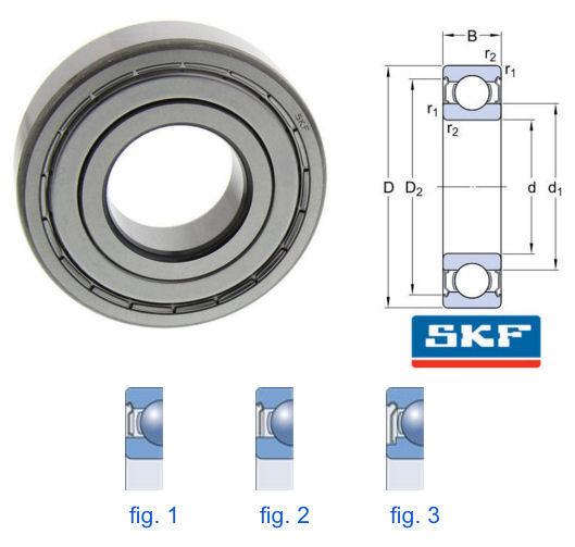 16002-2Z SKF Metric Shielded Deep Groove Ball Bearing 15x32x8mm image 2