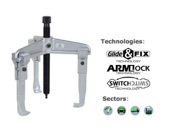 30-20 Kukko 3-Arm Universal Puller 200x150mm image 2