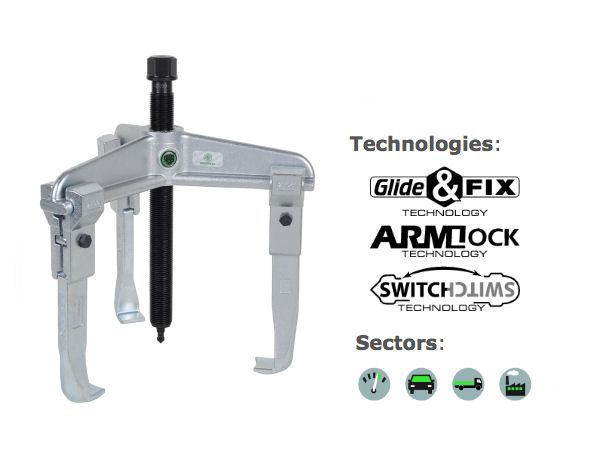 30-4 Kukko 3-Arm Universal Puller 375x200mm image 2
