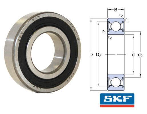 6003-2RSH/GJN SKF Sealed High Temperature Deep Groove Ball Bearing 17x35x10mm image 2