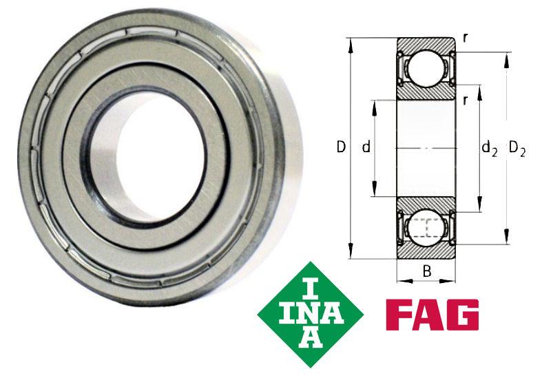 Radial Ball Bearing 6202 Open 15x35x11mm