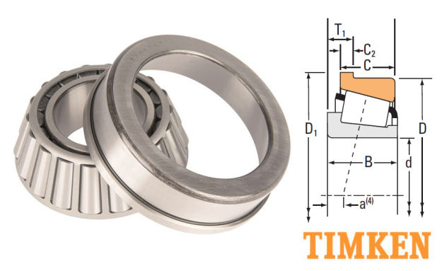 3193/3120B Timken Flanged Tapered Roller Bearing 31.750x72.625x11.112mm image 2