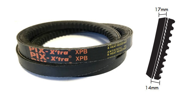 XPB1400 PIX Cogged Wedge Belt image 2