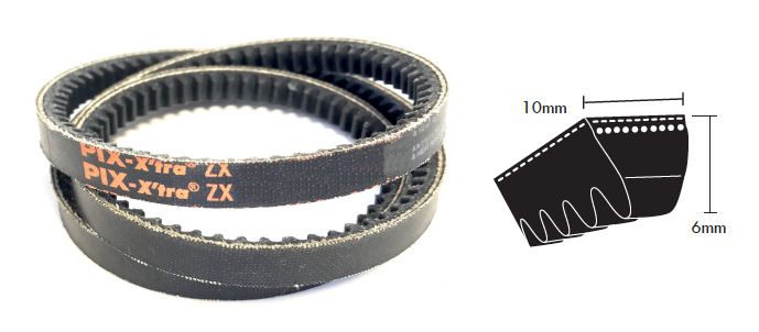 ZX25 PIX Cogged V Belt image 2