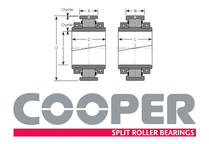 01EB45M GR Cooper Fixed Bearing 45x98.42x55.7mm image 2
