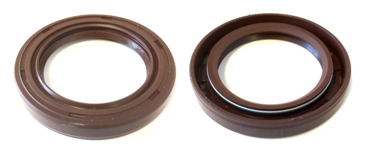 24x35x7mm R23/TC Double Lip Viton Rotary Shaft Oil Seal with Garter Spring image 2