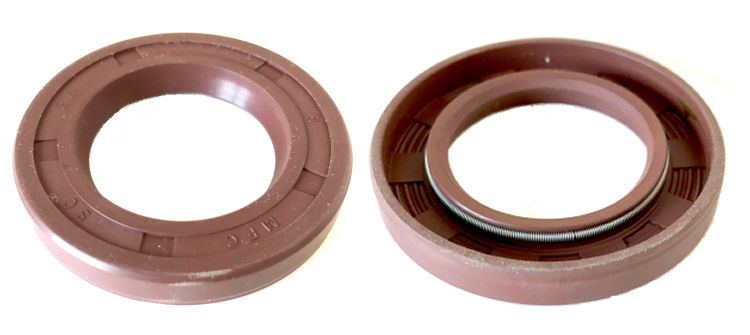 28x42x7mm R21/SC Single Lip Viton Rotary Shaft Oil Seal with Garter Spring image 2