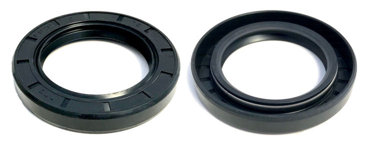 14x22x4.5mm R23/TC Double Lip Nitrile Rotary Shaft Oil Seal with Garter Spring image 2