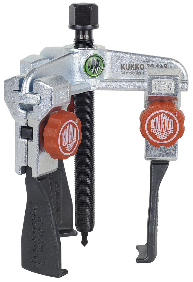 30-1+S Kukko Universal 3-Jaw Puller with Narrow Quick Adjusting Jaws 100 x 90mm image 2