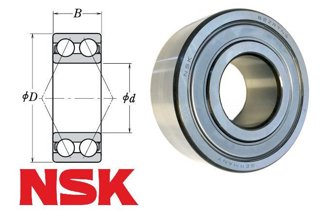 3201B-2ZTN NSK Double Row Angular Contact Ball Bearing 12x32x15.9mm image 2
