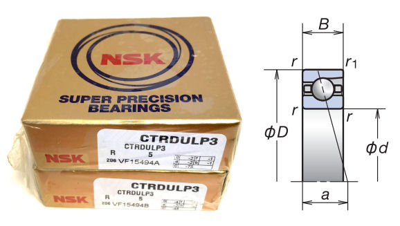 NSK 7008CTRDULP3 New In Box