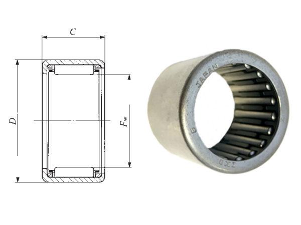 TLA1616Z IKO Shell Type Needle Roller Bearing 16x22x16mm image 2