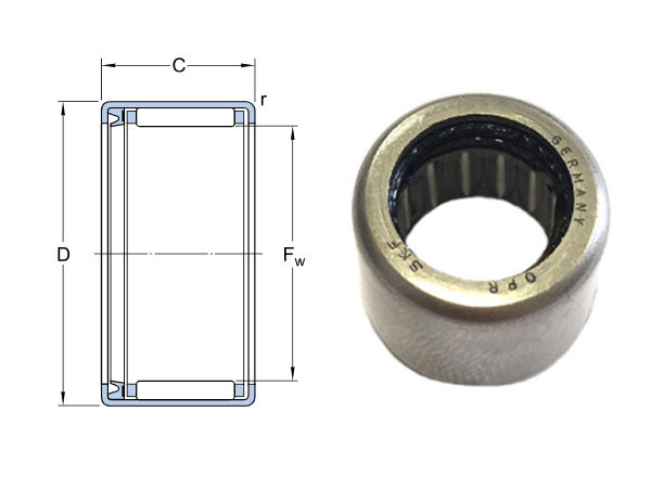 HK4018-RS SKF Sealed Drawn Cup Needle Roller Bearing 40x47x18mm image 2
