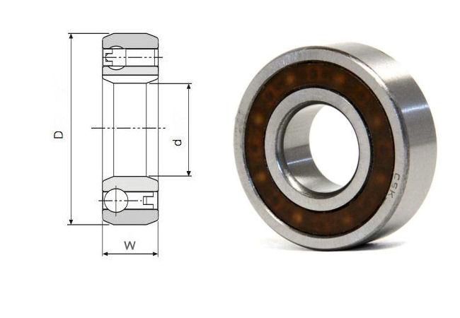 CSK20 Budget Brand Sprag Clutch Bearing without keyways 20x47x14mm image 2