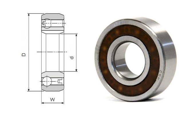 CSK40 Budget Brand Sprag Clutch Bearing without keyways 40x80x22mm image 2