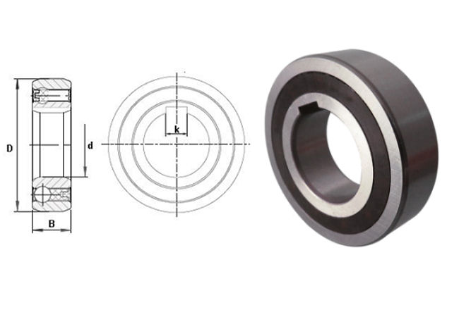 CSK17P Budget Brand Sprag Clutch Bearing with Internal Keyway 17x40x12mm image 2
