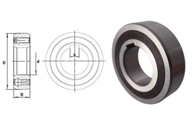 CSK35P Budget Brand Sprag Clutch Bearing with Internal Keyway 35x72x17mm image 2