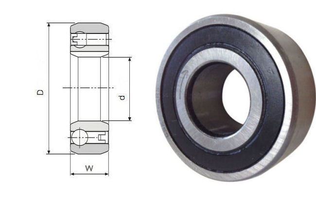 CSK302RS Budget Brand Sealed Sprag Clutch Bearing without keyways 30x62x16mm image 2