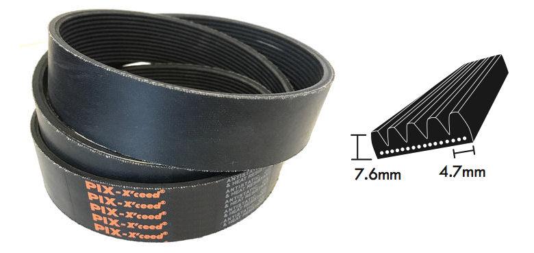 PL2476/975L L Section Poly V Belt image 2