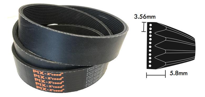 PK1835/722K K Section Multi Ribbed Poly V Belt 1835mm/72.2 inch Long image 2