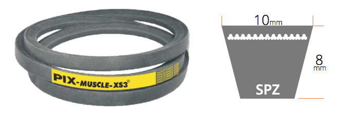 SPZ2540 PIX SPZ Section Muscle XS3 V Belt image 2