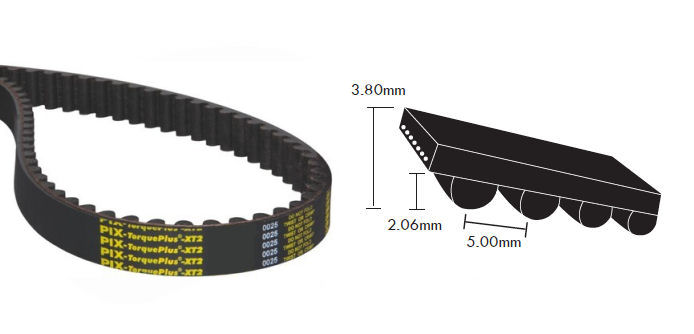 1000-5M-25 PIX TorquePlus XT2 Timing Belt 25mm Wide 5mm Pitch 200 Teeth image 2