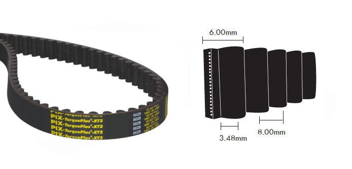480-8M-30 PIX TorquePlus XT2 Timing Belt 30mm Wide 8mm Pitch 60 Teeth image 2