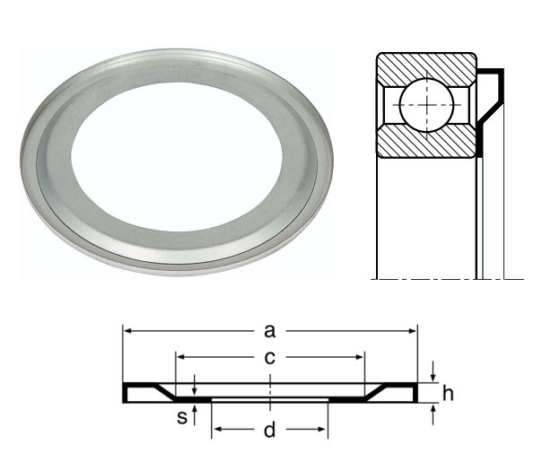 6317AV Nilos Ring for 6317 Bearings image 2