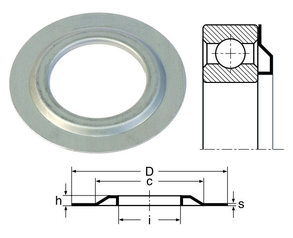 6301JV Nilos Ring for 6301 Bearings image 2
