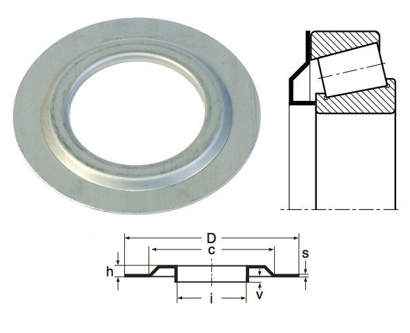30208JV Nilos Ring for 30208 Bearings image 2