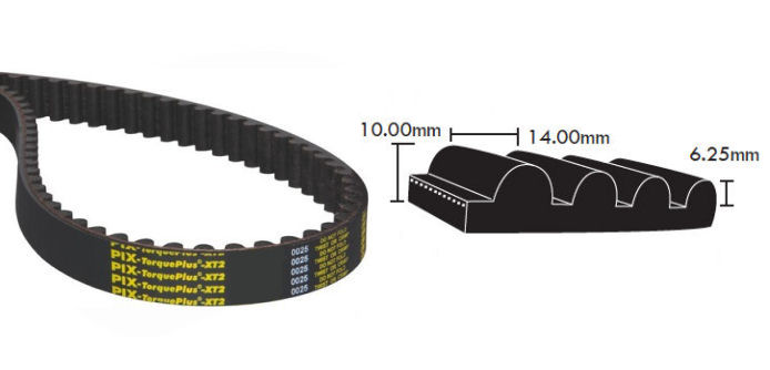 1190-14M-115 PIX TorquePlus XT2 Timing Belt 115mm Wide 14mm Pitch 85 Teeth image 2