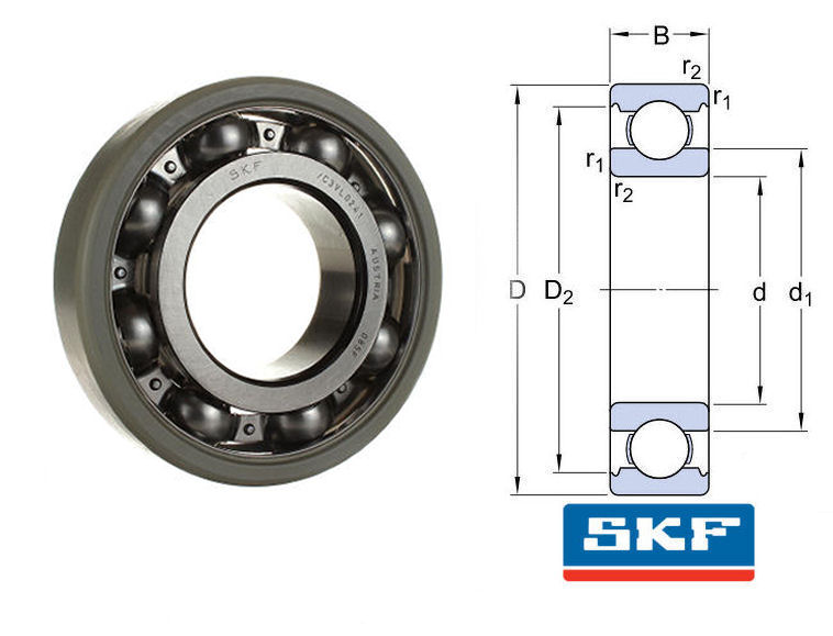 6326/C3VL0241 SKF INSOCOAT Deep Groove Ball Bearing 130x280x58 image 2