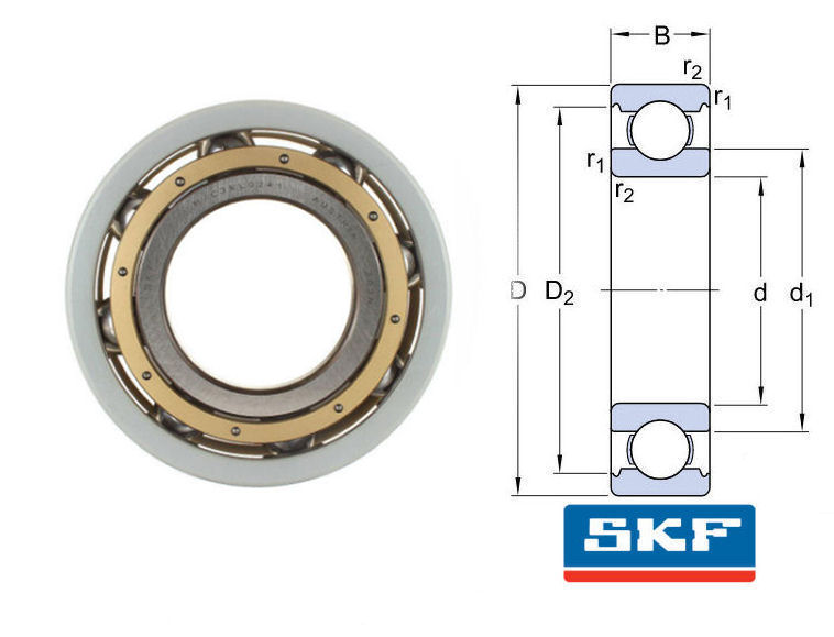 6330M/C3VL0241 SKF INSOCOAT Deep Groove Ball Bearing 150x320x65 image 2